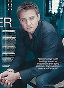 Jeremy Renner Portraits during the publlicity launch for The Bourne Legacy movie. Shoot at The Park Hyatt, Sydney.