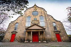 Exterior of Canongate Kirk on the Royal Mile ( High Street) in Old Town of Edinburgh, Scotland, UK
