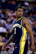 26 November 2005: Dominic James, freshman guard for Marquette University in the Marquette Golden Eagle 92-89 overtime victory over the University of South Carolina Gamecocks to win the championship at the Great Alaska Shootout in Anchorage, Alaska..