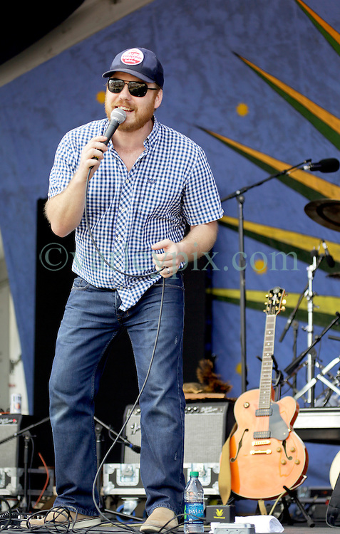 02 May 2015. New Orleans, Louisiana.<br /> The New Orleans Jazz and Heritage Festival. <br /> Marc Broussard plays the Gentilly Stage.<br /> Photo; Charlie Varley/varleypix.com