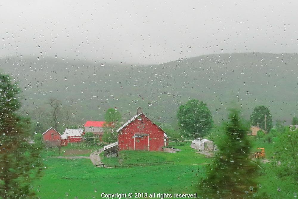 Rainy spring day, Rutland, VT