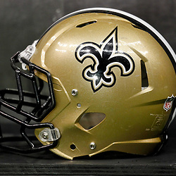 November 28, 2011; New Orleans, LA, USA; A detailed view of a New Orleans Saints helmet prior to kickoff of a game against the New York Giants at the Mercedes-Benz Superdome. Mandatory Credit: Derick E. Hingle-US PRESSWIRE