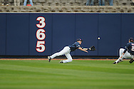 Mississippi's Tim ferguson makes a diving catch vs. Louisville at Oxford-University Stadium in Oxford, Miss. on Saturday, March 13, 2010. Ole Miss won 8-3.