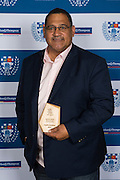 The 2016 Gallaher Shield Winning Coach is Charlie McAlister from Suburbs. Auckland Rugby Union Awards 2016, Eden Park, Auckland, New Zealand on Wednesday, October 26, 2016. Copyright photo: David Rowland / www.photosport.nz