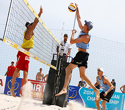 20140606 ITA: EK Beachvolleybal, Cagliari<br /> Clemens Doppler (AUT), Robert Meeuwsen, Alexander Brouwer<br /> ©2014-FotoHoogendoorn.nl / Pim Waslander
