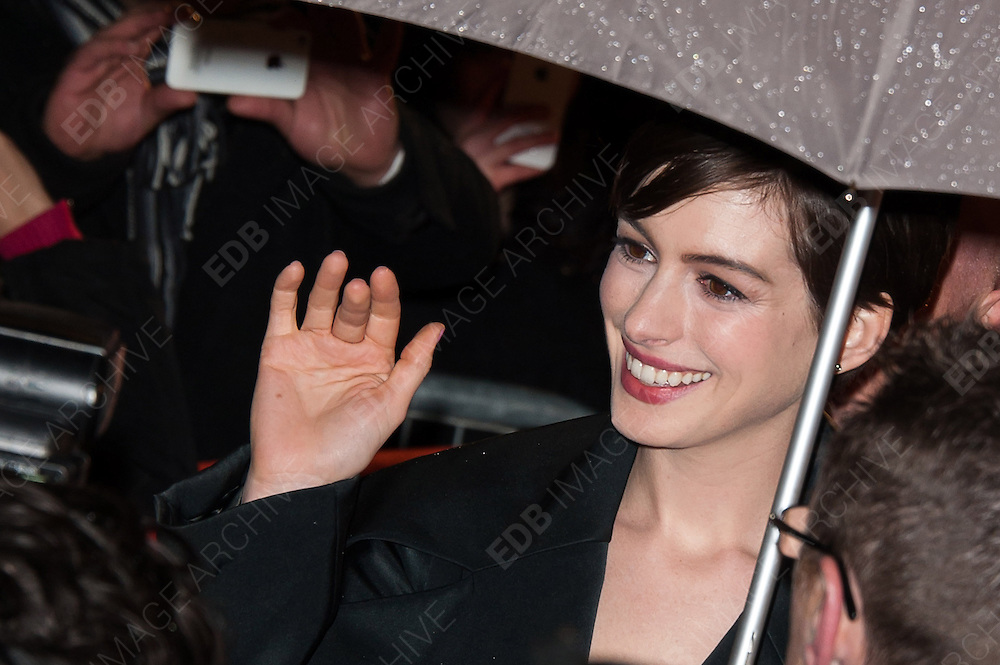 06.FEBRUARY.2013. PARIS<br /> <br /> THE FRENCH PREMIERE OF 'LES MISERABLES' HELD AT THE GAUMONT MARIGNAN THEATRE IN PARIS<br /> <br /> BYLINE: EDBIMAGEARCHIVE.CO.UK<br /> <br /> *THIS IMAGE IS STRICTLY FOR UK NEWSPAPERS AND MAGAZINES ONLY*<br /> *FOR WORLD WIDE SALES AND WEB USE PLEASE CONTACT EDBIMAGEARCHIVE - 0208 954 5968*