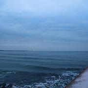 Today's overcast Winter Sunrise  at Narragansett Town Beach, Narragansett, RI,  February  6, 2013.