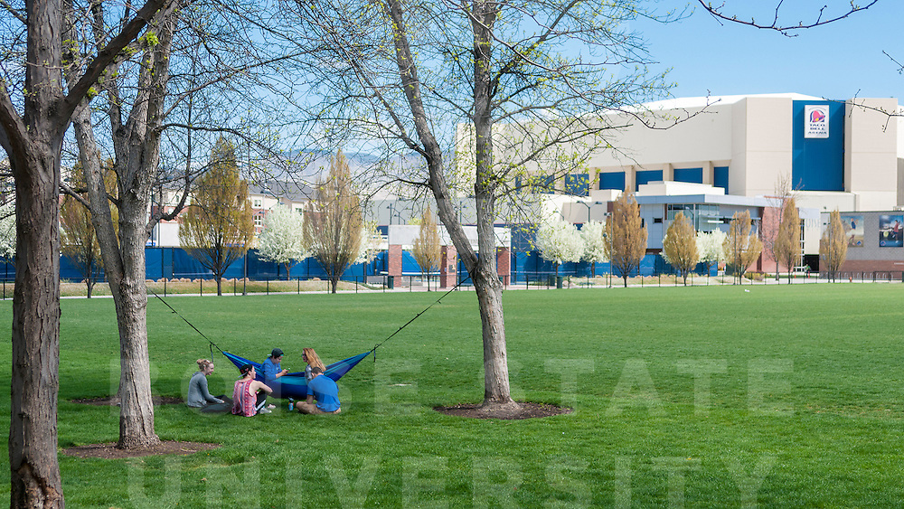 Boise State, Campus Shots, Spring, Brian Angers Photos