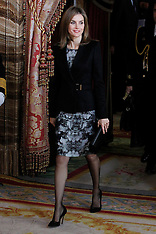 DEC 19 2014 Queen Letizia attends a meeting