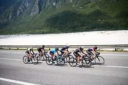The break approach the final climb during Stage 9 of 2019 Giro Rosa Iccrea, a 125.5 km road race from Gemona to Chiusaforte, Italy on July 13, 2019. Photo by Sean Robinson/velofocus.com