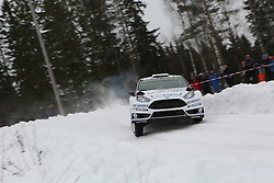 15.02.2015,  Karlstad, SWE, FIA, WRC, Schweden Rallye, im Bild Ott Tanak/Raigo Molder (M-Sport WRT/Ford Fiesta RS WRC) // during the WRC Sweden Rallye at the Karlstad in Karlstad, Sweden on 2015/02/15. EXPA Pictures © 2015, PhotoCredit: EXPA/ Eibner-Pressefoto/ Bermel<br /> <br /> *****ATTENTION - OUT of GER*****