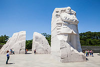 The Martin Luther King Jr memorial in Washington, DC, USA.