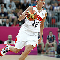 07 August 2012: USA Diana Taurasi brings the ball upcourt during 91-48 Team USA victory over Team Canada, during the women's basketball quarter-finals, at the Basketball Arena, in London, Great Britain.