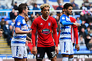 Ben Folami (34) of Ipswich Town during the EFL Sky Bet Championship match between Reading and Ipswich Town at the Madejski Stadium, Reading, England on 28 April 2018. Picture by Graham Hunt.