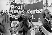 Early in his 1976 bid for the presidency, former Georgia governor Jimmy Carter presented his stump speech to small street corner audiences sometimes numbering below 20.