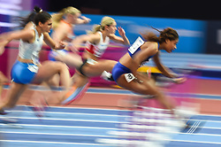 March 2, 2018 - Birmingham, England, United Kingdom - Sharika Nelvis of United States at 60 meter hurdles at World indoor Athletics Championship 2018, Birmingham, England on March 2, 2018. (Credit Image: © Ulrik Pedersen/NurPhoto via ZUMA Press)