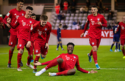 MUNICH, GERMANY - Wednesday, December 11, 2019: Bayern Munich's Bright Akwo Arrey-Mbi scores the second goal during the final UEFA Youth League Group B match between FC Bayern München and Tottenham Hotspur at the FC Bayern Campus. (Pic by David Rawcliffe/Propaganda)
