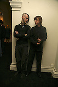 Blake Viola and Andrei Viola, VIP opening of Bill Viola exhibition Love/Death: The Tristan project. Haunch of Venison, St Olave's College, Tooley St. London and Dinner afterwards at Banqueting House. Whitehall. 19 June 2006. ONE TIME USE ONLY - DO NOT ARCHIVE  © Copyright Photograph by Dafydd Jones 66 Stockwell Park Rd. London SW9 0DA Tel 020 7733 0108 www.dafjones.com