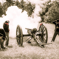 Firing the canon at the Living History Event, Hillsborough, NH All Content is Copyright of Kathie Fife Photography. Downloading, copying and using images without permission is a violation of Copyright.