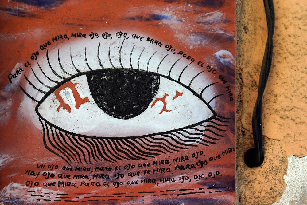 Evil Eye in Havana Centro, Cuba.