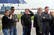 11/10/12 - THIERS - PUY DE DOME - FRANCE - Membres du CE de l entreprise PRECITURN devant les locaux de leur ancienne usine - Photo Jerome CHABANNE pour Le Monde