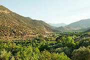 TIN MAL, MOROCCO - 29th April 2014 - Berber mountain village (view from TinMal Mosque), High Atlas Mountains, Southern Morocco.