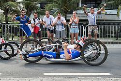 Spectators, BOSREDON Mathieu, H4, FRA, Cycling, Road Race à Rio 2016 Paralympic Games, Brazil