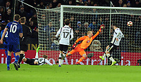 Football - 2016 / 2017 FA Cup - Fourth Round, Replay: Leicester City vs. Derby County<br /> <br /> Demarai Gray of Leicester City scoring goal no 3 past Jonathan Mitchell in extra time at King Power Stadium.<br /> <br /> COLORSPORT/ANDREW COWIE