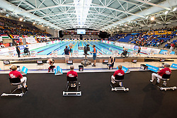 View down pool from podium  at 2015 IPC Swimming World Championships -
