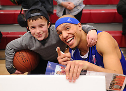 Bristol Flyers' Greg Streete meets fans  - Photo mandatory by-line: Joe Meredith/JMP - Mobile: 07966 386802 - 21/02/2015 - SPORT - Basketball - Bristol - SGS Wise Campus - Bristol Flyers v Plymouth Uni Raiders - British Basketball League