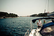 Departing the long and narrow bay of Stari Grad. This proactive bay is one of the reasons Stari Grad has been inhabited for so many centuries.