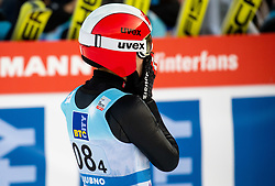 Eva Pinkelnig of Austria reacts during Team Competition at Day 2 of World Cup Ski Jumping Ladies Ljubno 2019, on February 9, 2019 in Ljubno ob Savinji, Slovenia. Photo by Matic Ritonja / Sportida