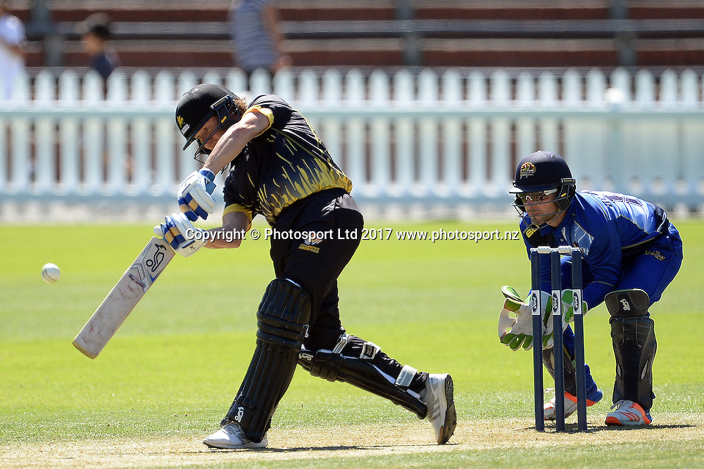 Wellington Firebirds' captain Hamish Marshall in action during the Ford Trophy 2017 - Wellington Firebirds vs Otago Volts 04-February-2017, Basin Reserve, Saturday 04th February 2017. Copyright Photo: Raghavan Venugopal / www.photosport.nz