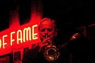 Chicago jazz club Bobby Lewis playing the trumpet