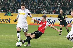 17.12.2011, BorussiaPark, Mönchengladbach, GER, 1.FBL, Borussia Mönchengladbach vs Mainz 05, im BildRoman Neustädter (Mönchengladbach #13) gegen Eugen Polanski (Mainz #7) im Strafraum rechts Schiedsrichter Peter Gagelmann - kein Elfmeter // during the 1.FBL, Borussia Mönchengladbach vs Mainz 05 on 2011/12/17, BorussiaPark, Mönchengladbach, Germany. EXPA Pictures © 2011, PhotoCredit: EXPA/ nph/ Mueller..***** ATTENTION - OUT OF GER, CRO *****