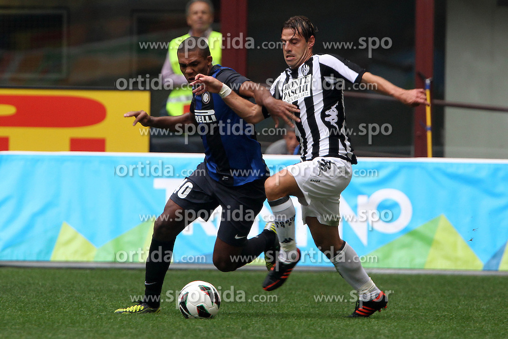 23.09.2012, Giuseppe-Meazza-Stadion, Mailand, ITA, Serie A, Inter Mailand vs AC Siena, 4. Runde, im Bild Juan Jesus Inter Emanuele Calaiò Siena // during the Italian Serie A 4th round match between Inter Milan and AC Siena at the Giuseppe Meazza Stadium, Milan, Italy on 2012/09/23. EXPA Pictures © 2012, PhotoCredit: EXPA/ Insidefoto/ Paolo Nucci..***** ATTENTION - for AUT, SLO, CRO, SRB, SUI and SWE only *****