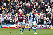 Aston Villa Defender, James Chester (12) ands Blackburn Rovers Forward, Danny Graham (12)  during the EFL Sky Bet Championship match between Blackburn Rovers and Aston Villa at Ewood Park, Blackburn, England on 29 April 2017. Photo by Mark Pollitt.