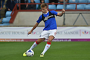Gillingham player Jake Hessenthaler (8) during the warm up before the EFL Sky Bet League 1 match between Scunthorpe United and Gillingham at Glanford Park, Scunthorpe, England on 20 August 2016. Photo by Ian Lyall.