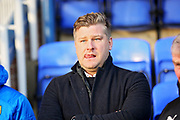 Oxford United's manager Karl Robinson before the EFL Sky Bet League 1 match between Peterborough United and Oxford United at London Road, Peterborough, England on 8 December 2018.