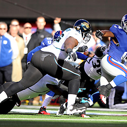 Running back Ahmad Bradshaw #44 of the New York Giants runs the ball during NFL football action between the New York Giants and Jacksonville Jaguars on Nov. 28, 2010 at MetLife Stadium in East Rutherford, N.J.