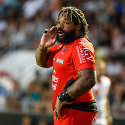 Mathieu Bastareaud of Toulon during the pre-season match between Rc Toulon and Lyon OU at Felix Mayol Stadium on August 17, 2017 in Toulon, France. (Photo by Guillaume Ruoppolo/Icon Sport)