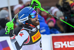 17.02.2019, Aare, SWE, FIS Weltmeisterschaften Ski Alpin, Slalom, Herren, 2. Lauf, im Bild Bronzemedaillengewinner Marco Schwarz (AUT) // bronze medalist Marco Schwarz of Austria reacts after his 2nd run of men's Slalom of FIS Ski World Championships 2019. Aare, Sweden on 2019/02/17. EXPA Pictures © 2019, PhotoCredit: EXPA/ Erich Spiess