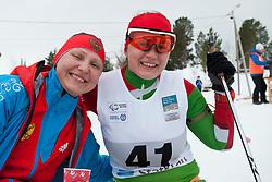 KOCHEROVA Natalia, HRAFEYEVA Lidziya, RUS, BLR, Long Distance Biathlon, 2015 IPC Nordic and Biathlon World Cup Finals, Surnadal, Norway