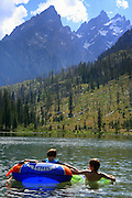 Young boys enjoy String Lake in Grand Teton National Park 2011.