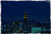 New-York City.  Empire State Building by night