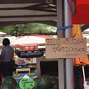 Daily market in Ljubljana, Slovenia.