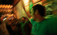 (A Coruña, Spain - February 8, 2009) - The Galician Black Towers gather early on Super Bowl Monday with friends to watch Super Bowl XLIV at Penique in A Coruña. The New Orleans Saints beat the Indianapolis Colts 31-17 in Miami. ..Photo by Will Nunnally / Will Nunnally Photography
