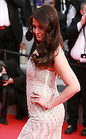 Aishwarya Rai at The Search gala screening red carpet at the 67th Cannes Film Festival France. Tuesday 20th May 2014 in Cannes Film Festival, France.