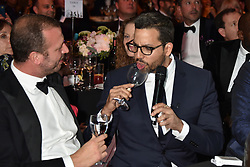David Blaine eats glass as a magic trick at the Boodles Boxing Ball, in association with Argentex and YouTube in Support of Hope and Homes for Children at Old Billingsgate London, United Kingdom - 7 Jun 2019 Photo Dominic O'Neil