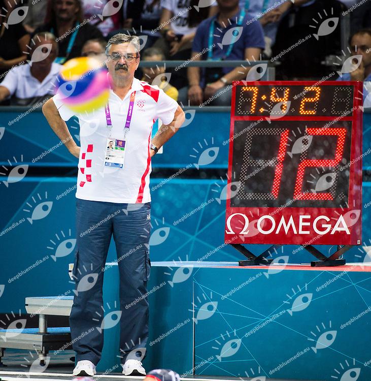 RUDIC Ratko Croatia.Croatia Vs. USA  Water polo Men.quarter Finals.London 2012 Olympics - Olimpiadi Londra 2012.day 13 Aug.8.Photo G.Scala/Deepbluemedia.eu/Insidefoto